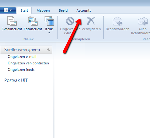 Windows Live Mail 2012.  Afbeelding 1.