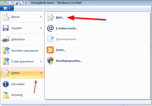 Windows Live Mail 2012. Afbeelding 10.