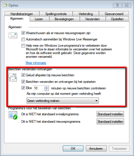 Windows Live Mail 2012 Afbeelding 11