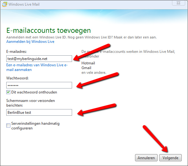 Windows Live Mail 2012. Afbeelding 3.