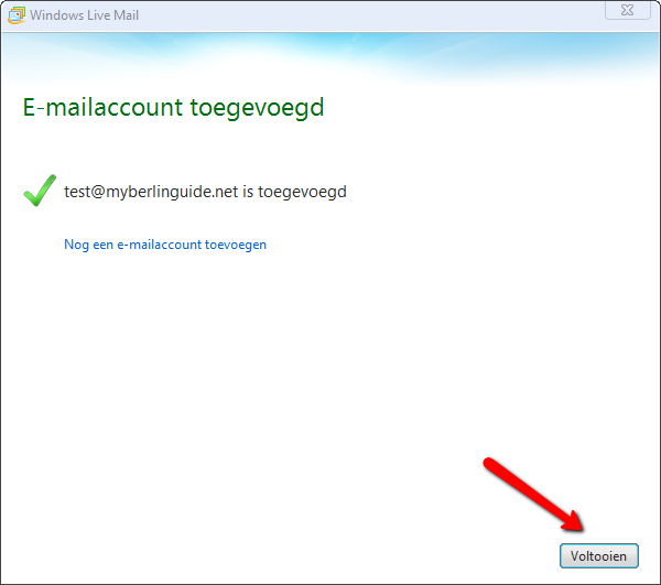 Windows Live Mail 2012. Afbeelding 5.