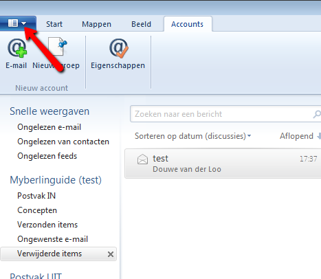 Windows Live Mail 2012. Afbeelding 9.