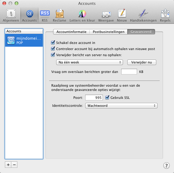 Apple Mail. Stap 9.