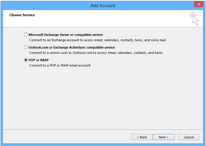 Outlook 2013. Afbeelding 3.