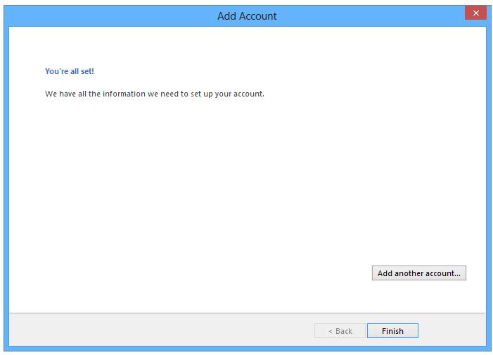 Outlook 2013. Afbeelding 7.